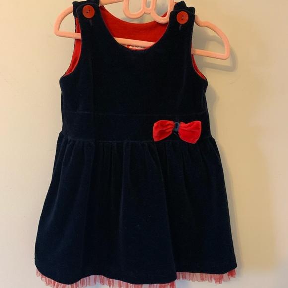 5/$20 Navy & red / Velvet dress